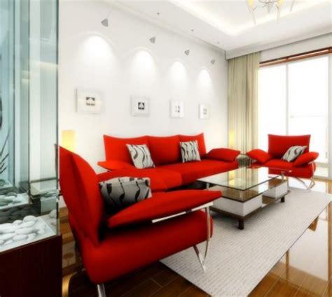 Karpet Tembok 5 inspirasi interior ruang tamu modern nuansa merah desain rumah minimalis