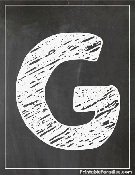 printable chalkboard letters printable letter g chalkboard writing print chalky letter g