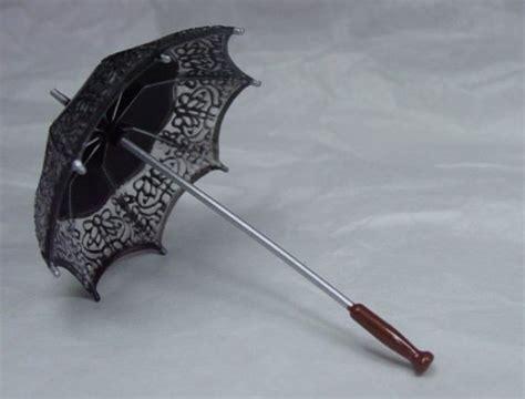 black doll umbrella heidi ott dollhouse miniature 1 12 scale black umbrella