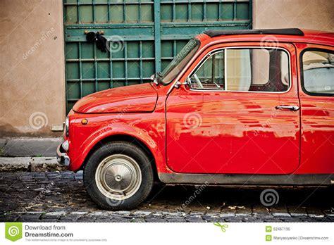 italian car fiat rome italy april 25 retro small italian car fiat