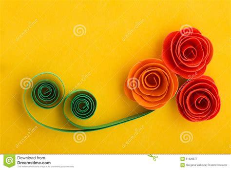 fiori fatti con la carta fiori rosa della carta fatti con la tecnica quilling su
