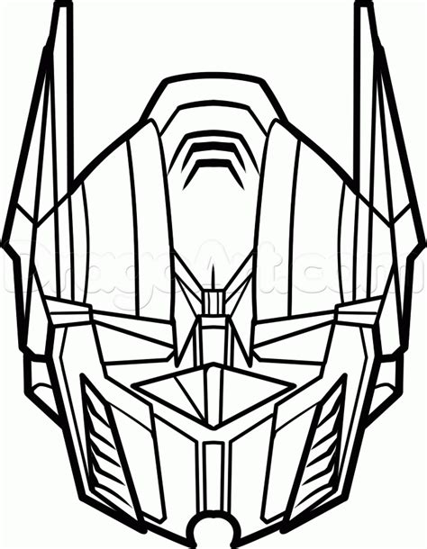easy transformer coloring page how to draw optimus prime easy step 6 kids activities