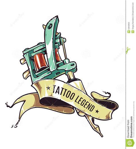 tattoo machine cartoon tattoo legend stock vector image 53642653
