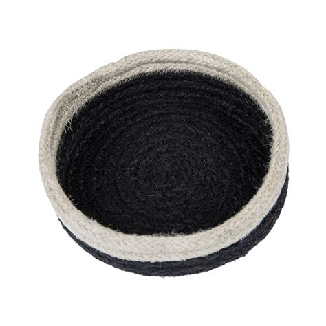 braided rug coasters buy the braided rug company coasters set of 6 black white amara