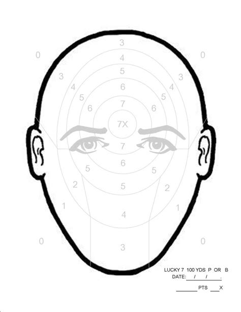 printable sniper head targets march rimfire challenge sniper s hide forums