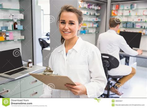 Pharmacy Intern by Pharmacy Intern Smiling At Stock Image Image Of
