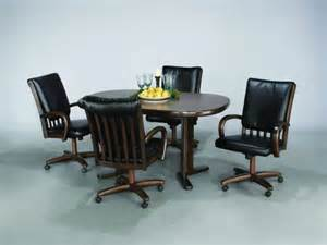dining room sets with chairs on casters modern kitchen chairs wheels with dinettes dining room