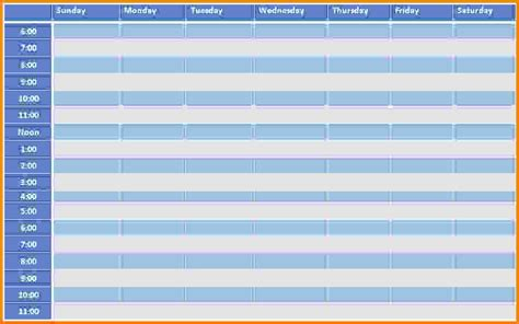 time management schedule template calendar template 2016