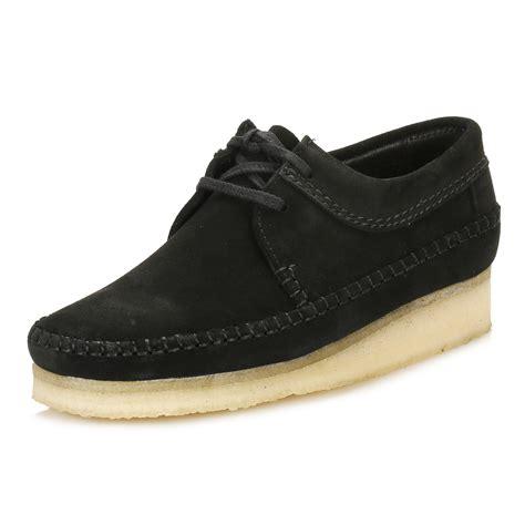 sole shoes clarks mens black mocassin weaver suede high crepe sole