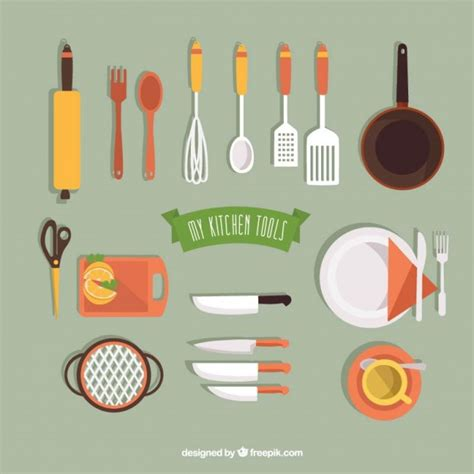 kitchen tools design my kitchen tools collection vector free download