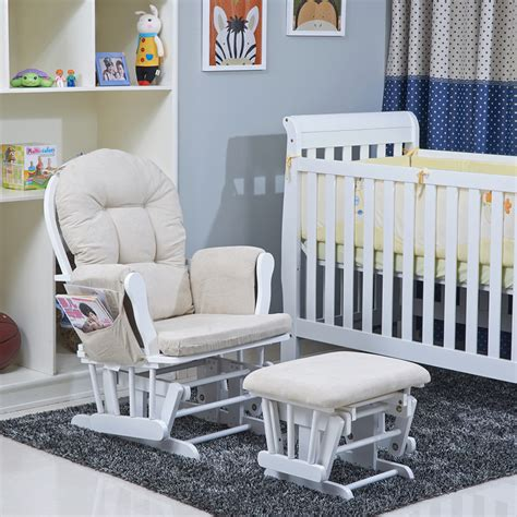 Rocking Chairs With Ottomans Naomi Home Brisbane Glider U Rocking Chair With Ottoman For Nursery
