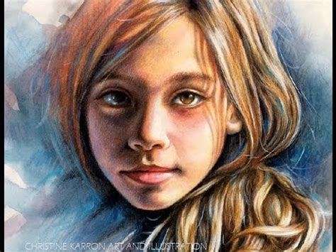 colored pencil portraits watercolor and colored pencil portrait speed painting by