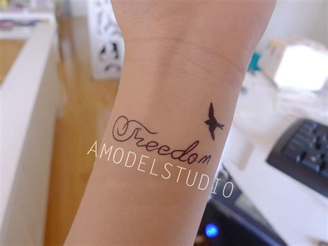 freedom tattoo ams accessories freedom sticker