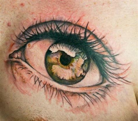 tattoo chest eyes realistic chest eye tattoo by dark art tattoo