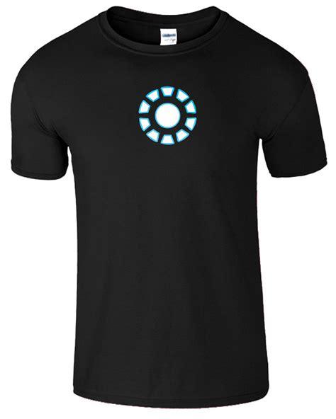 Tony Stark Tshirt iron arc reactor mens t shirt tony stark t shirt