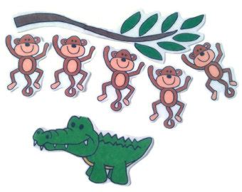 five cheeky monkeys swinging in a tree 5 little monkeys etsy