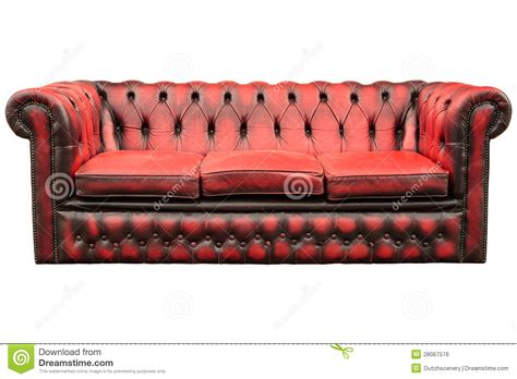 vintage red couch vintage red sofa isolated on white royalty free stock