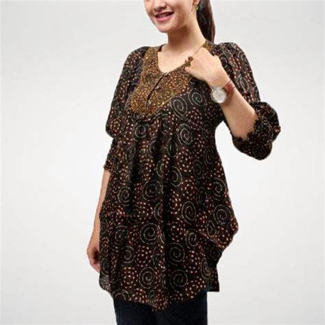 Dress Atasan Blouse Baju Batik Wanita Modern Yeremi Side Arm Top model baju atasan batik modern model baju atasan
