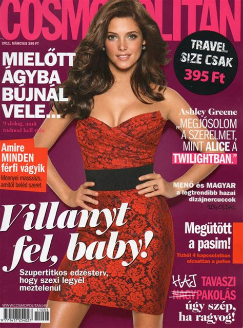 ashley greene magazine cover ashley greene for cosmopolitan hungary march 2011 cover