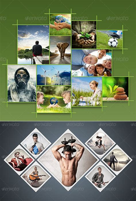 Amazing Collage Templates In Photoshop Entheos Photo Templates
