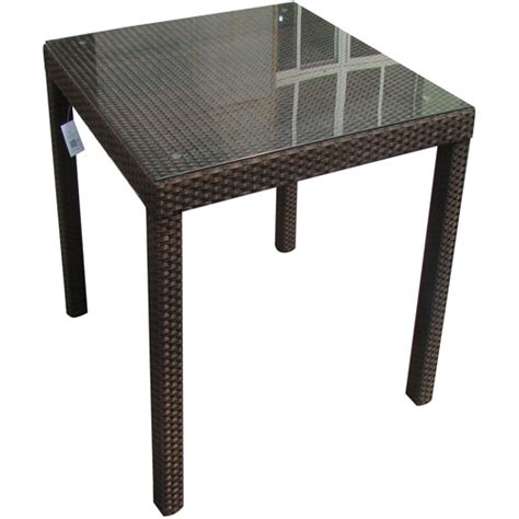Walmart Bar Table by Monza All Weather Wicker Square Bar Table Brown Walmart