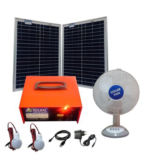 Solar Home Lighting System 12v Dc Table Fan Bulb Solar Solar Home Lighting