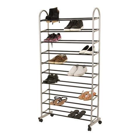 Warehouse Shoe Rack by All Set 149 X 77 X 32cm 10 Tier Shoe Rack With Wheels