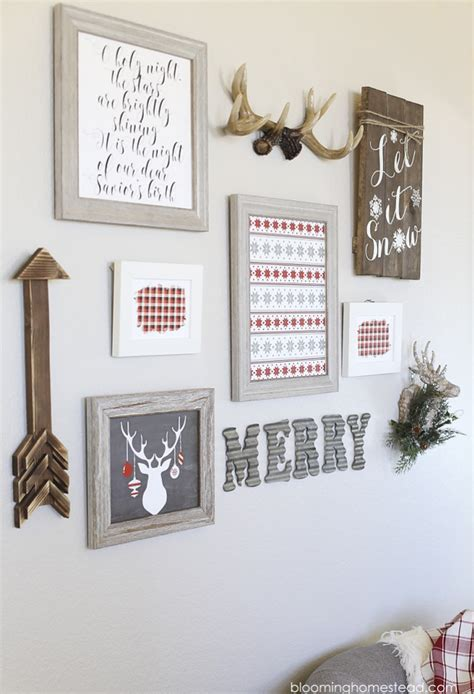 diy printable home decor holiday gallery wall blooming homestead