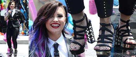 Tamara Mellon And Demi by Demi Lovato In Gianmarco Lorenzi At La Pride Parade