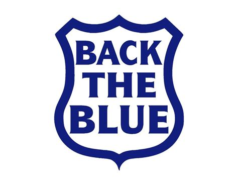 back to blue back the blue shield vinyl decal blue 5 quot support
