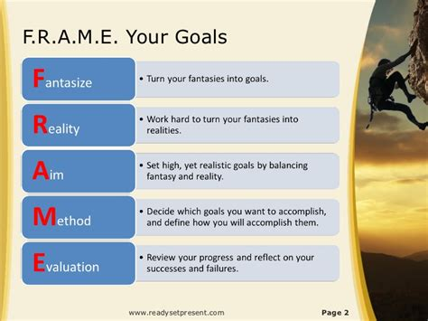 goal setting powerpoint ppt content modern sle
