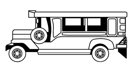 philippine jeep drawing philippines jeepney black and white clipart clipart suggest