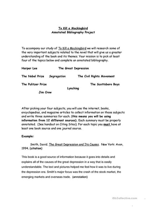 How To Cite The Seagull Reader Essays by Mla Annotated Bibliography Worksheet