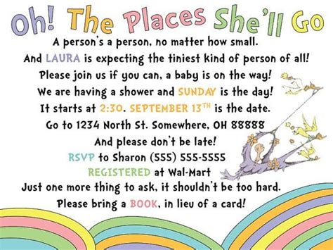 Dr Seuss Themed Baby Shower Invitations by Best 10 Dr Suess Baby Shower Images On Shower