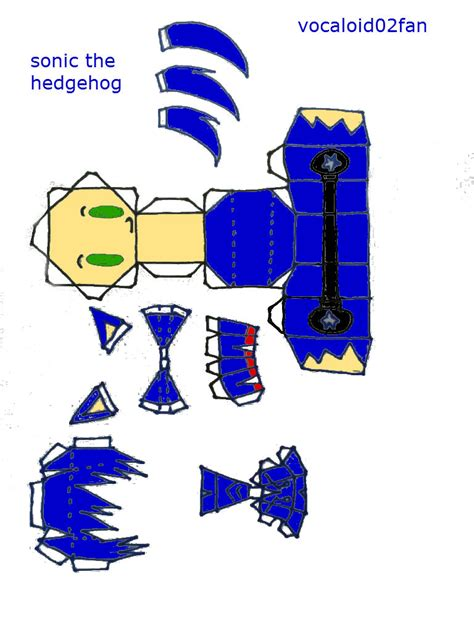 Papercraft Sonic - printable sonic the hedgehog paper crafts