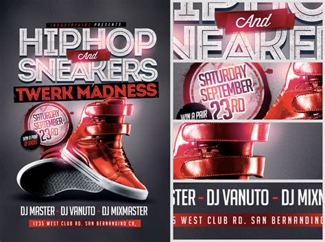 Hip Hop And Sneakers Flyer Template Flyerheroes Kicks Flyer Template 2