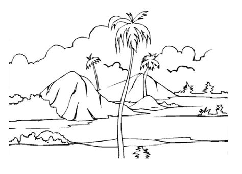 tropical landscape coloring page tropical island coloring page school pinterest free