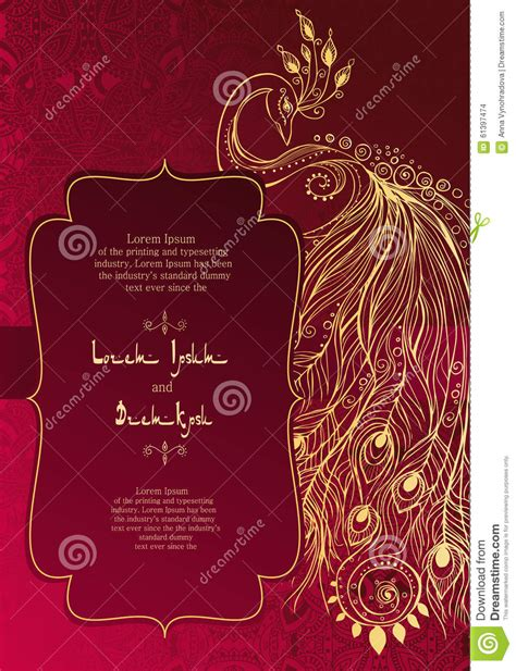 beautiful card stock vector image 61397474