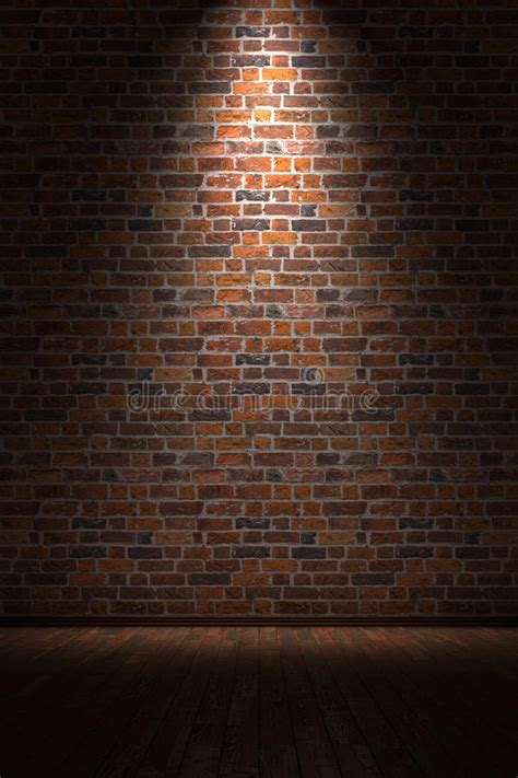 Empty Room With Brick Wall Royalty Free Stock Photos
