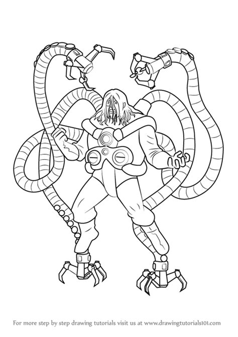 cheap how to draw doctor octopus from ultimate spiderman
