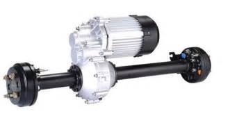 Electric Car Axle Motor Rear Axle With Hydraulic Brake Differential Speed