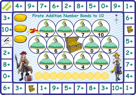 www games pirate number bonds to 10 games let me learn