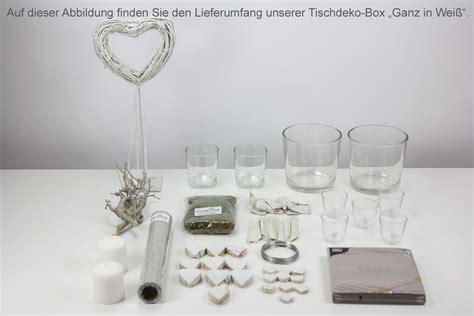 Tischdeko Set Hochzeit by Creatina Tischdeko Box Hochzeit Als Set Quot Ganz In Wei 223