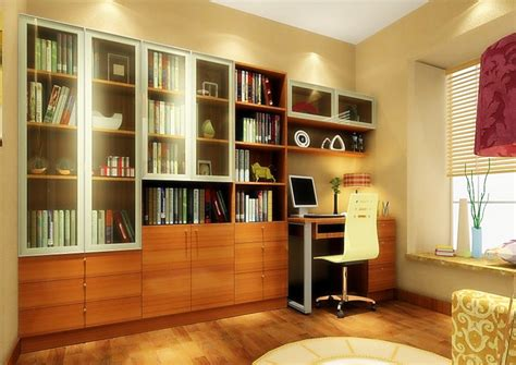 3d Software Render Study Room Design With Yellow Mesh Back Study Room