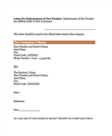 Endorsement Letter For Product Inclusion 16 endorsement letters sles templates pdf doc