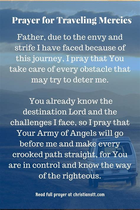 powerful prayer  traveling mercies prayer  travel