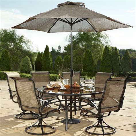 table patio furniture sets grand resort oak