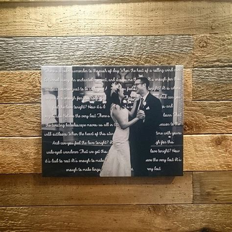 Wedding Song With by 11 Quot X 14 Quot Canvas With Wedding Song Lyrics