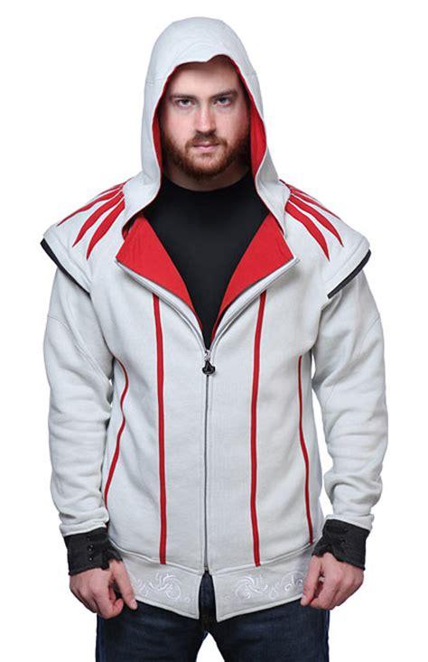 Hoodie Sweater Zipper Assasins Creed Cloth 4 assassin s creed ezio costume hoodie thinkgeek