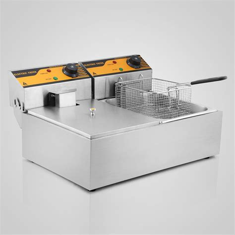 commercial electric light stand vevor commercial electric fryer frying basket chip
